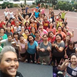 [Sin Chew Optics & Contact Lens Centre] What better way to end hump day with a good Zumba sweat sesh with Nina!