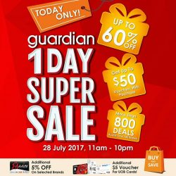 [The Seletar Mall] On 28 July, Guardian (B1-10/11) at The Seletar Mall will be having a 1-Day Super Sale from