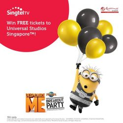 "[Singtel] Join us as we celebrate with themed games, a ""tattoo parlour"" and Minion-themed food and drinks at the Despicable"
