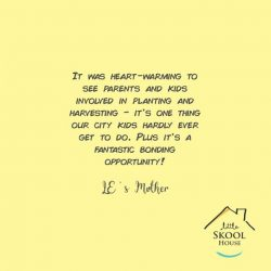 [The Little Skool-House] We received a lovely testimonial from one of the families who joined us for the Little Skool-House By-The-