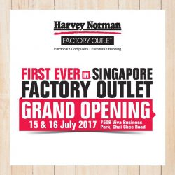 [Harvey Norman] Join us for the Grand Opening of HarveyNormanSG's first ever Factory Outlet this weekend to enjoy BIG Savings like