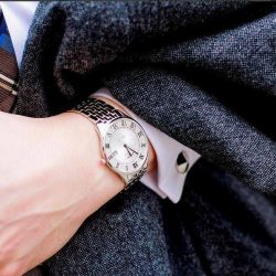 [All Watches / Aptimos] This refined Rotary piece offers an ultra-sleek silhouette that is sure to compliment one's outfit.