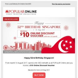 [Popular] Receive a $10 Online Voucher This National Day!