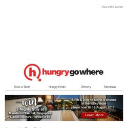 [HungryGoWhere] August's Top Picks on HungryGoWhere