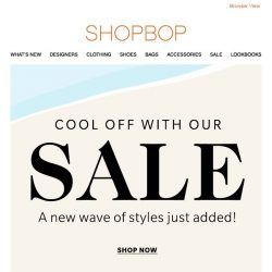 [Shopbop] You'll want to open this. Hint: Sale