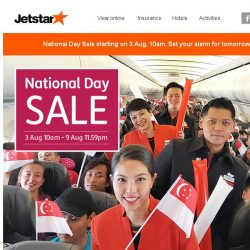 [Jetstar] 🎉 Psst... National Day Sale starting soon, are you ready?