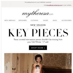 [mytheresa] The 3 key pieces you need for the new season + free shipping
