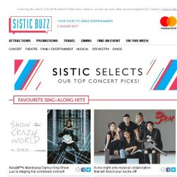 [SISTIC] SISTIC Selects: Nothing beats singing together with your favourite artiste in a live concert! 🎤