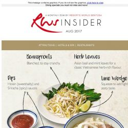 [Resorts World Sentosa] Dining specials you must not miss and more!