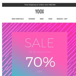 [Yoox] Sale: now up to an EXTRA 70% OFF