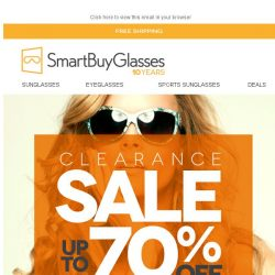 [SmartBuyGlasses] 70% off our best brands! It's kind of a big deal..
