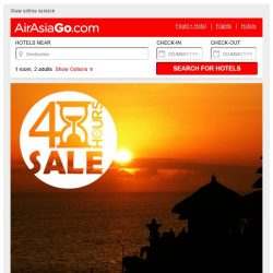 [AirAsiaGo] ⏰ Attention, our Sale ends midnight tonight! ⏰