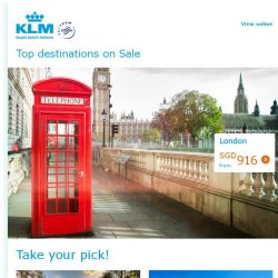 [KLM] Fly to top European cities from SGD 814 all-in!