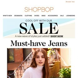 [Shopbop] The must-have jeans styles on our list