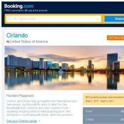 [Booking.com] Deals in Orlando from S$ 52 for September