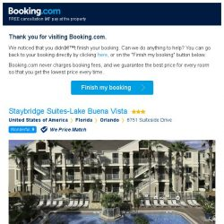 [Booking.com] Staybridge Suites-Lake Buena Vista – are you still interested in staying?