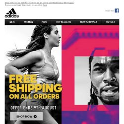[Adidas] Free Shipping On All Orders