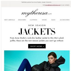 [mytheresa] The jackets you need for the new season + free shipping