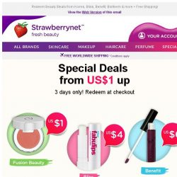 [StrawberryNet] , Your US$1 Deal Awaits! 💝 Race you to Checkout.