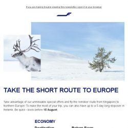 [Finnair] Fly the reindeer route to Northern Europe