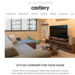 [Castlery] Spruce up your corner with styles you like!