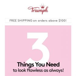 [Triumph] 3 Things You Need