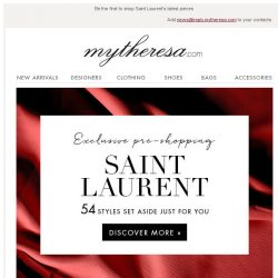 [mytheresa] Exclusive pre-shopping: Saint Laurent + free shipping