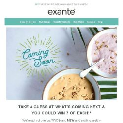 [Exante Diet] Guess what's coming next...