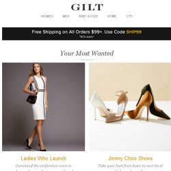 [Gilt] Ladies Who Launch, Jimmy Choo Shoes, Camper Kids' Kicks: Buy 3+, Get 20% Off and More Start Today at 9pm ET