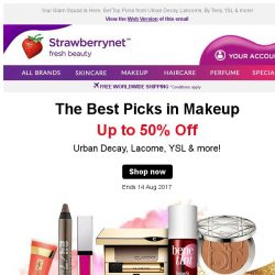 [StrawberryNet] Best Picks in Makeup Up to 50% Off!