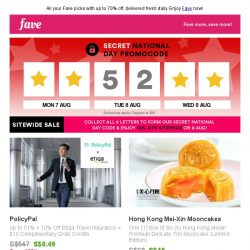 [Fave] Uncover secret savings: Your Fave of the day has arrived!