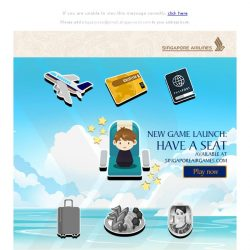 [Singapore Airlines] Just released on SingaporeAirGames: Have A Seat