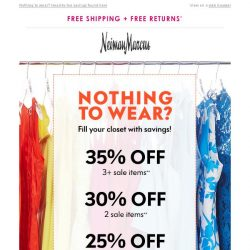 [Neiman Marcus] EXTRA 35% off sale! Going on right now
