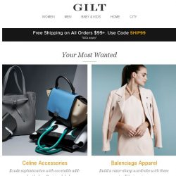 [Gilt] Céline Accessories, Balenciaga Apparel, Shoshanna and More Start Today at Noon ET