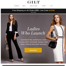 [Gilt] Ladies Who Launch: It's time to rethink your work wardrobe