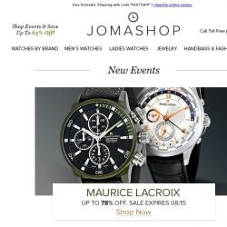 [Jomashop] JUST IN: Gucci • Maurice Lacroix • Casio • Panerai • Coach