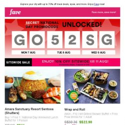 [Fave] Exclusive: Uncover your secret national day saving inside!