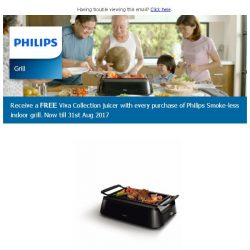 [PHILIPS] Introducing the Smoke-less Indoor Grill