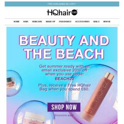 [HQhair] Beauty and the Beach | 20% off + Free HQhair Bag