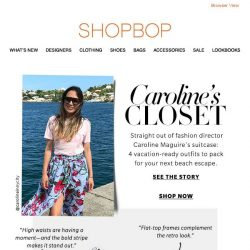 [Shopbop] 4 packable vacation outfits from our fashion director