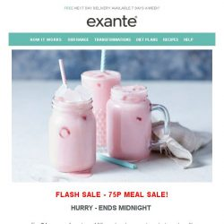 [Exante Diet] Flash SALE | 100 Meals for just £75! [75p a Meal]