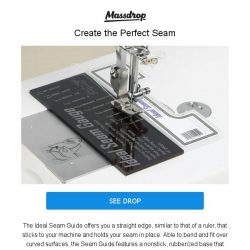 [Massdrop] Ideal Seam Guide: Consistent & Effortless for $22.99