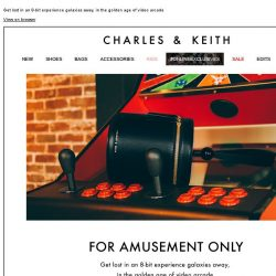 [Charles & Keith] FOR AMUSEMENT ONLY