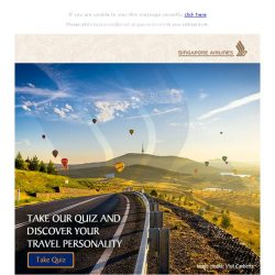 [Singapore Airlines] Pack your bag to find out your perfect itinerary!