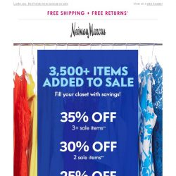 [Neiman Marcus] 1 more day! Extra 35% off sale + over 3500+ new items added