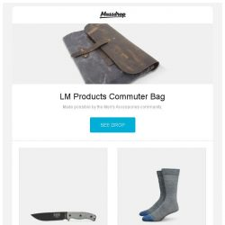 [Massdrop] LM Products Commuter Bag, ESEE 6 Series Fixed Blade Knife w/Sheath, Darn Tough Lifestyle Socks (2-Pack) and more...