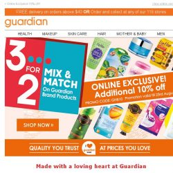 [Guardian] Mix & Match, Shop & Save! Pick the Guardian brand products you ❤