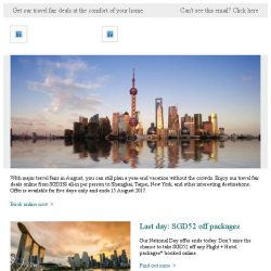 [Cathay Pacific Airways] Online travel fair deals from SGD338 all-in