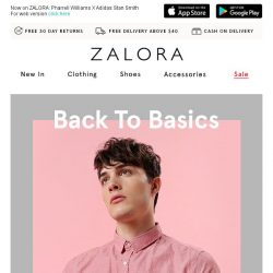[Zalora] Everyday Essentials: Keep it simple with these basics