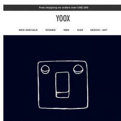 [Yoox] Yooxer, as a valued customer get 🎉 an EXTRA 20% OFF everything 🎉 this weekend!